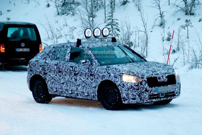 Audi тестирует Q2 с различными вариантами привода