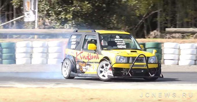 В Японии показали на треке Suzuki Jimny для дрифта (Видео)