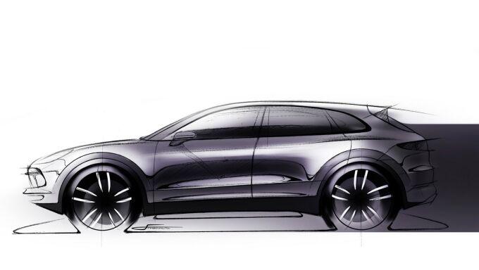 Porsche опубликовал скетчи нового Cayenne